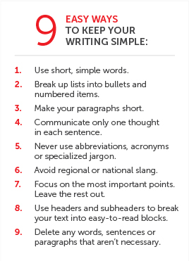 9 ways to keep your writing simple