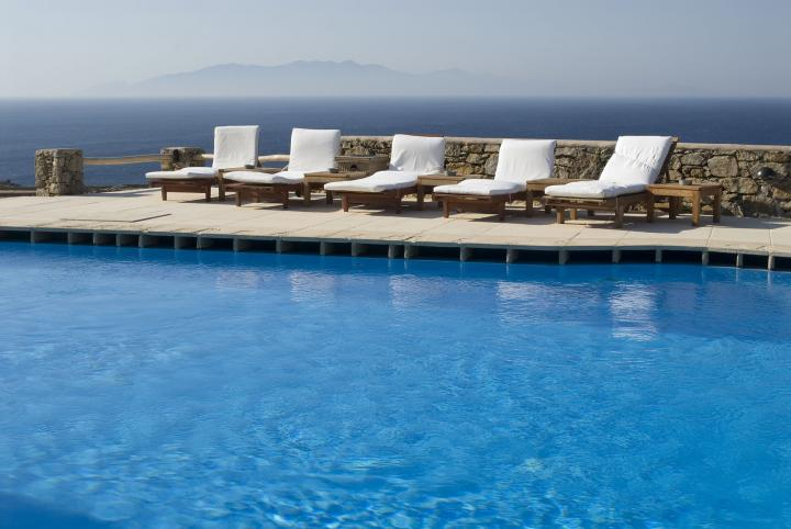 Azure paradise at Mykonos, Greece