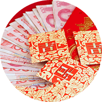 Red packets and Chinese RMB