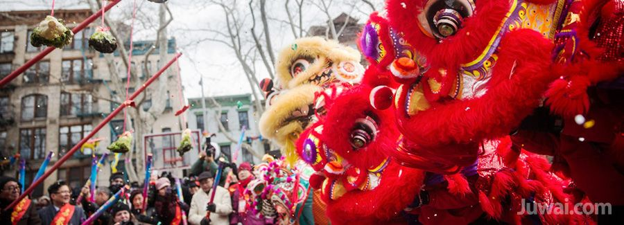 lion dance chinese new year overseas