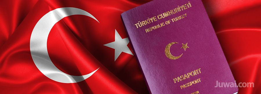 turkey visa passport flag
