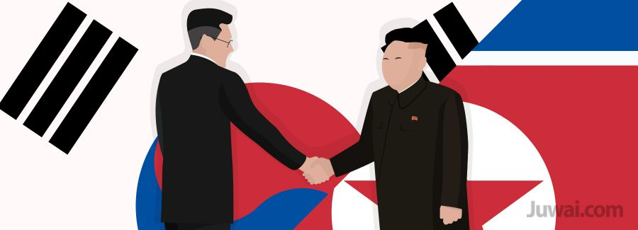 China North Korea handshake